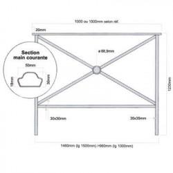 barrière de protection pour tottoir # MU3871