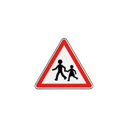 Panneau triangle A13a # PR10A13a700