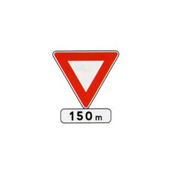 Panneau triangle AB3b # PR10AB3b700