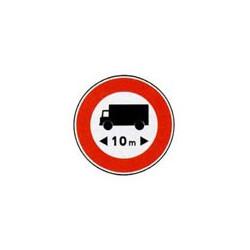 Panneau rond B10a # PR10B10a650