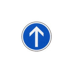Panneau rond B21b # PR10B21b650