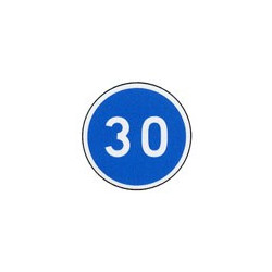 Panneau rond B25 # PR100B25650