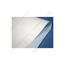 Papier affiche blanc dos bleu # CP0511