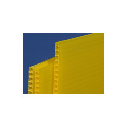 Plaque de Polypropylène jaune 650gr/m² # MP0173