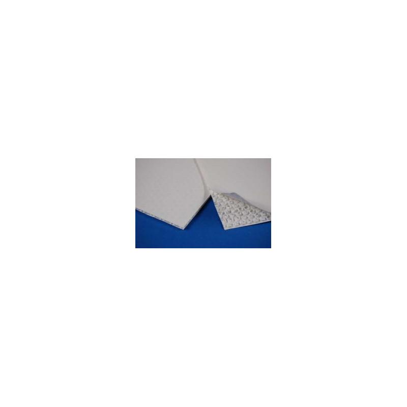 Plaque Polypropylène blanc opaque structure à bulles # MP0181