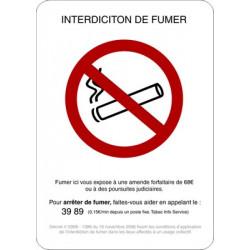 adhésif interdiction de fumer # AD0103
