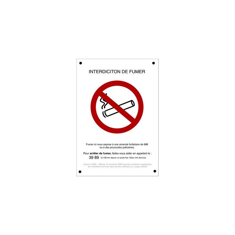 panneau indiction de fumer # DP1085