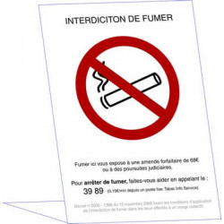 chevalet interdiction de fumer # DP1065