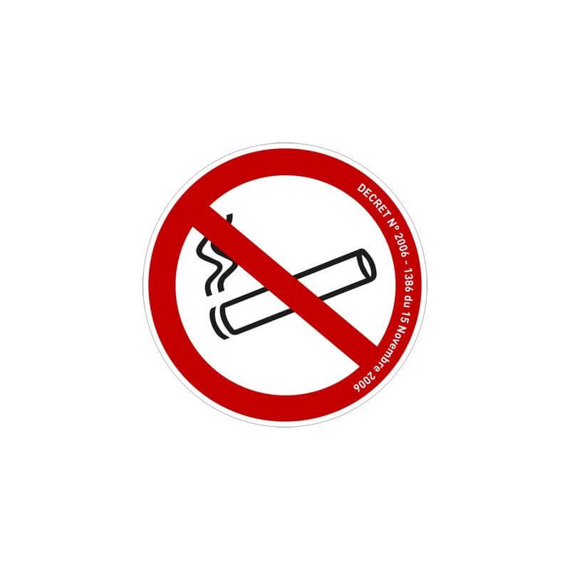 Adhésif autocollant : Interdiction de fumer # AD0021