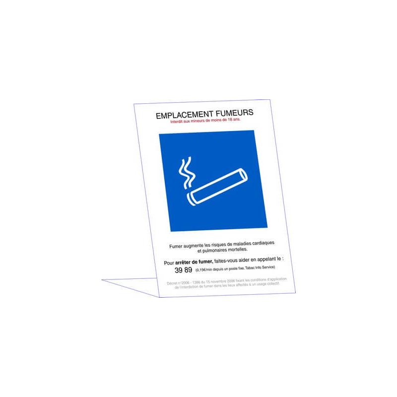 panneau emplacement fumeur # DP1075