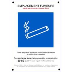 panneau emplacement fumeur # DP1091