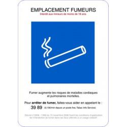adhésif emplacement fumeur # AD0003