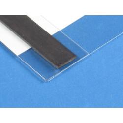 Pochette porte étiquette plat magnétique # PE0159
