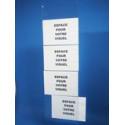Bande porte étiquette verticale # PE0281