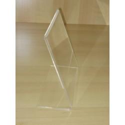 Chevalet porte etiquette transparent plexi luxe