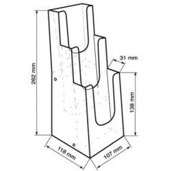 Porte-brochures 3 niveaux 1/3 A4 # PB0342