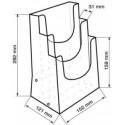Porte brochure 3 niveaux A5 # PB0344