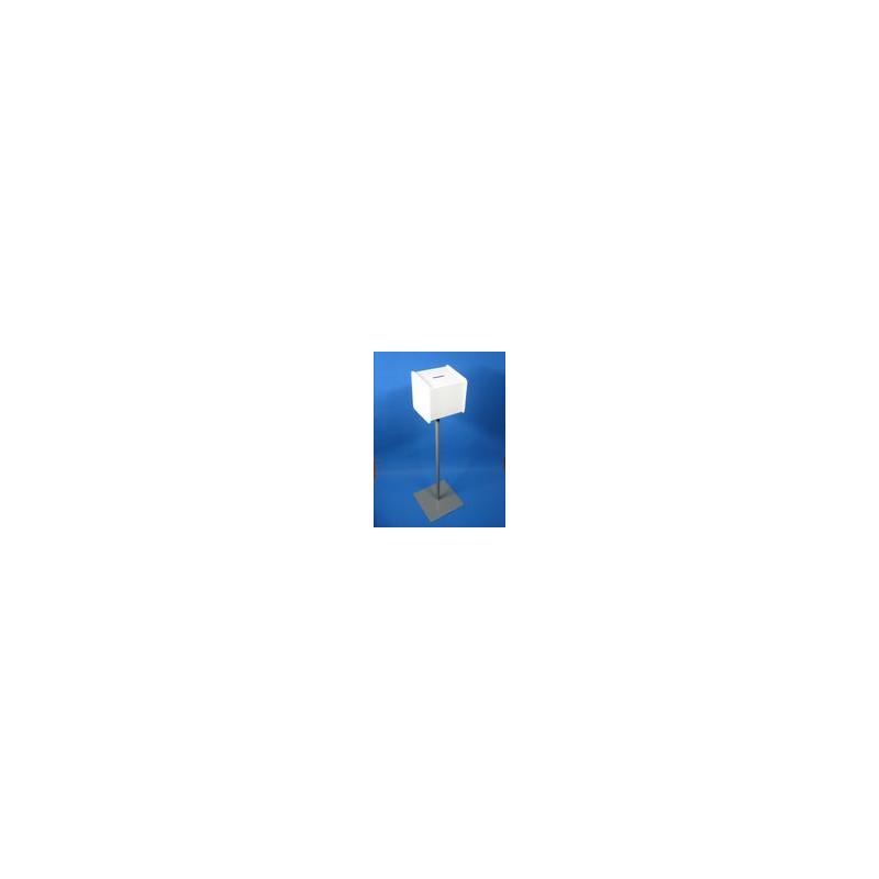 Urne blanche sur pied + cadenas # PB1113