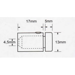 Accroche cylindrique 13mm # AC0163