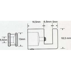 Fixation fendue 18.5mm # AC0167