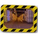 miroir rectangle cadre jaune et noir # MI0027