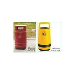 Corbeille 90 litres Europe & Standard # MU5073