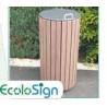 Corbeille Callebotis Ecolosign avec couvercle