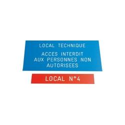 plaque gravée signalétique # DP0881