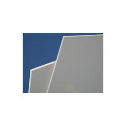 Plaque PVC blanc rigide d'épaisseur 1 à 3 mm # MP0251