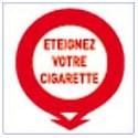 panneau signalétique éteignez votre cigarette # DP1181