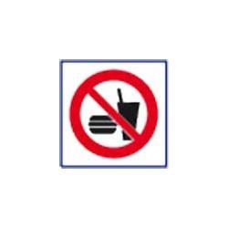 panneau signalisation interdiction de manger # DP1141