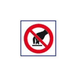 panneau signalisation interdit de toucher # AD1115