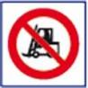 panneau signalisation interdit aux véhicules # AD1131