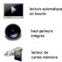 """Totem vidéo avec écran 19"""" et porte-brochures # TV0021"""