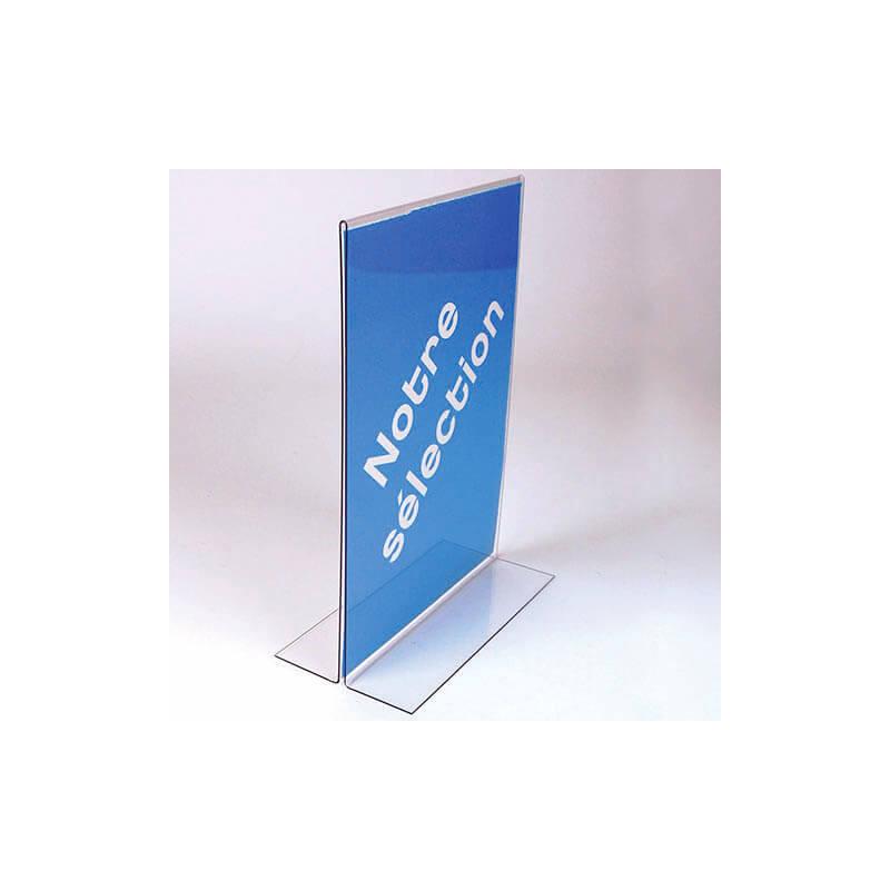 Porte-étiquette recto-verso en T # PE0071