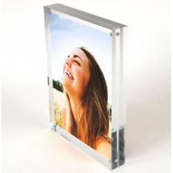 Porte-étiquette ou photo plexi massif magnétique