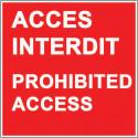 signalisation accés interdiction # AD5773