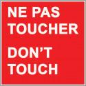 signalisation ne pas toucher # AD5769