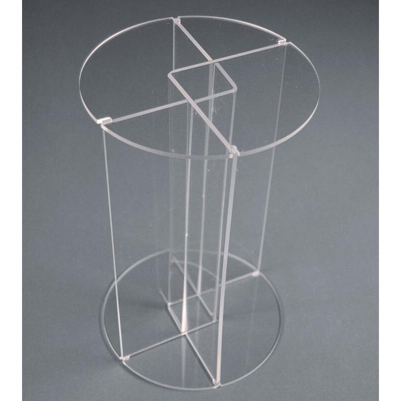 Colonne Podium En Plexiglas Pied Imbric Sigma Signaletique