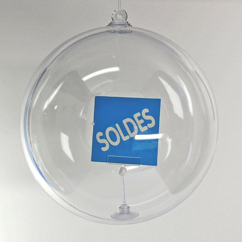 boule transparente à suspendre # MB0551