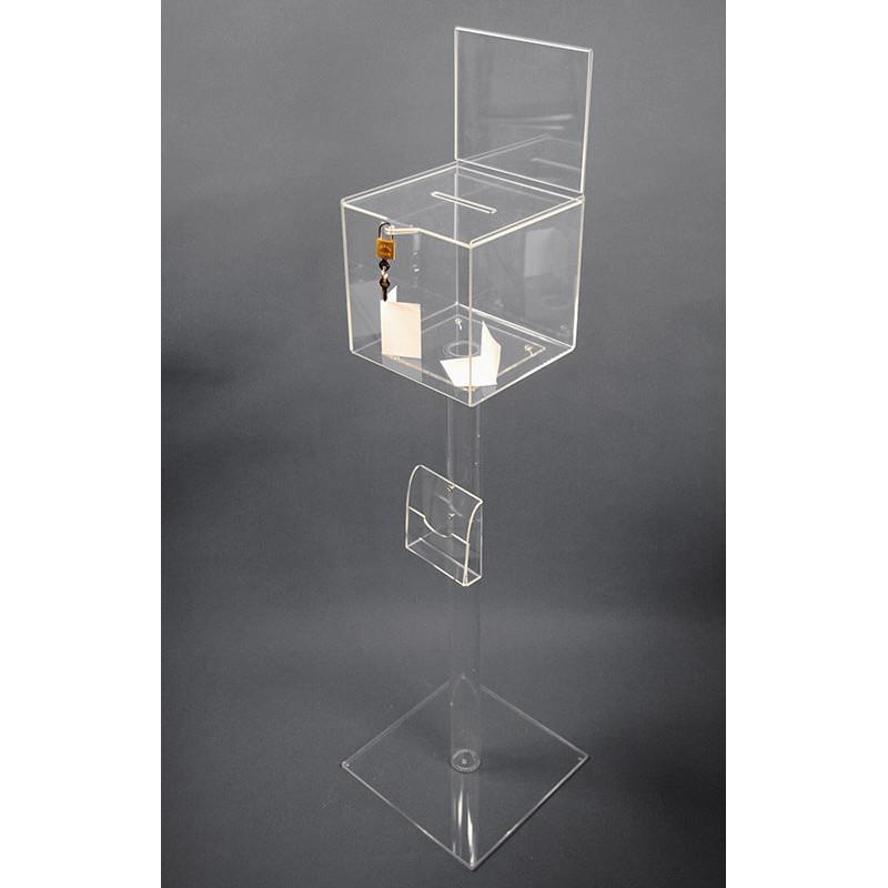 urne acrylique sur pied +porte-visuel # PB1135