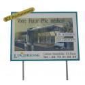 panneau enseigne publicitaire 4m2 avec poteaux # PI0711