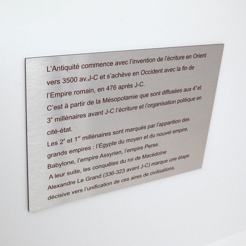 Panneau informatif en aluminium for Panneau exterieur publicitaire