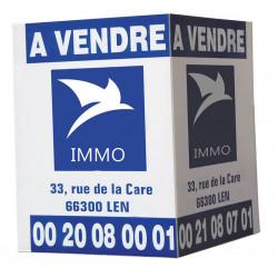 Panneau immobilier drapeau en Numérique # PI0601