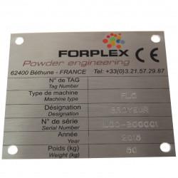 plaque alu gravée # DP0871