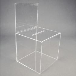 Urne transparente avec porte-visuel # PB0241