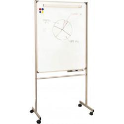 tableau blanc magnétique mobile recto/verso # PAM101R