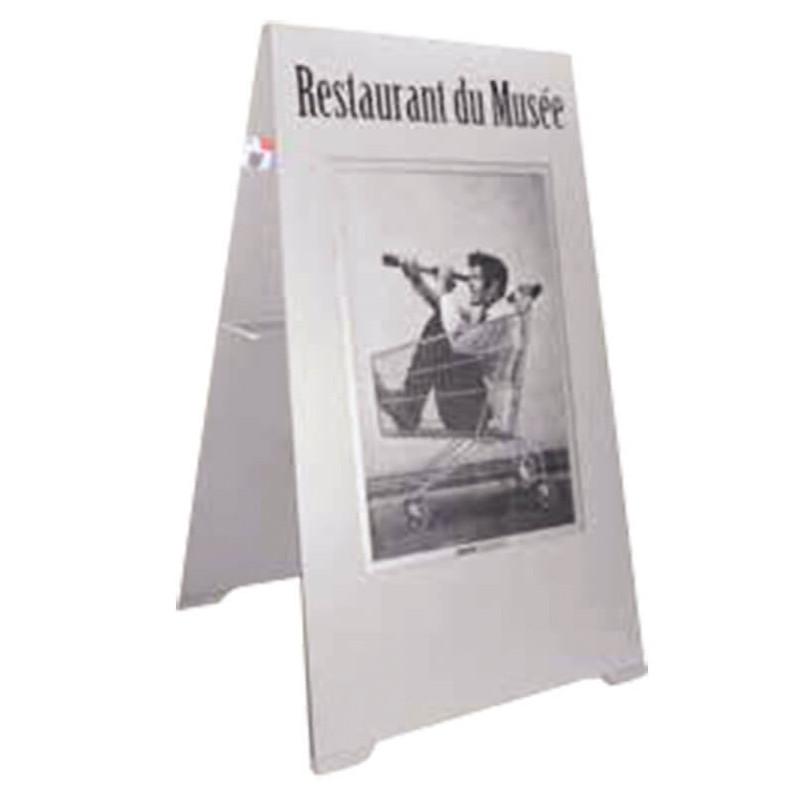 chevalet stop-trottoir ardoise et porte-affiche # MU0156