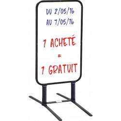panneau-chevalet sur ressorts écriture effaçable # MU0125