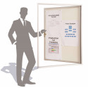Vitrine d'affichage sur surface vitrée, visibilité : extérieur et intérieur # VT1001